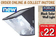 Solar Wall Light - Black – Now Only £22.00