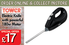Electric Knife with powerful 180w Motor – Now Only £17.00