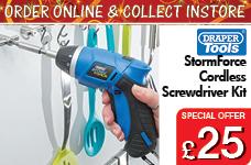 Storm Force® Cordless Li-ion Screwdriver Kit (3.6V) – Now Only £25.00