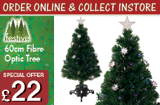 60cm Silvery flower Fibre Optic Tree  – Now Only £22.00