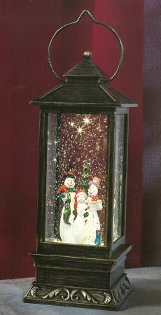 Water filled lantern with warm white LED - Snowman – Now Only £20.00