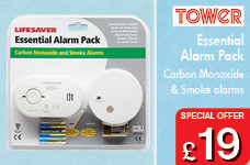 Carbon Monoxide & Smoke Alarm pack – Now Only £19.00