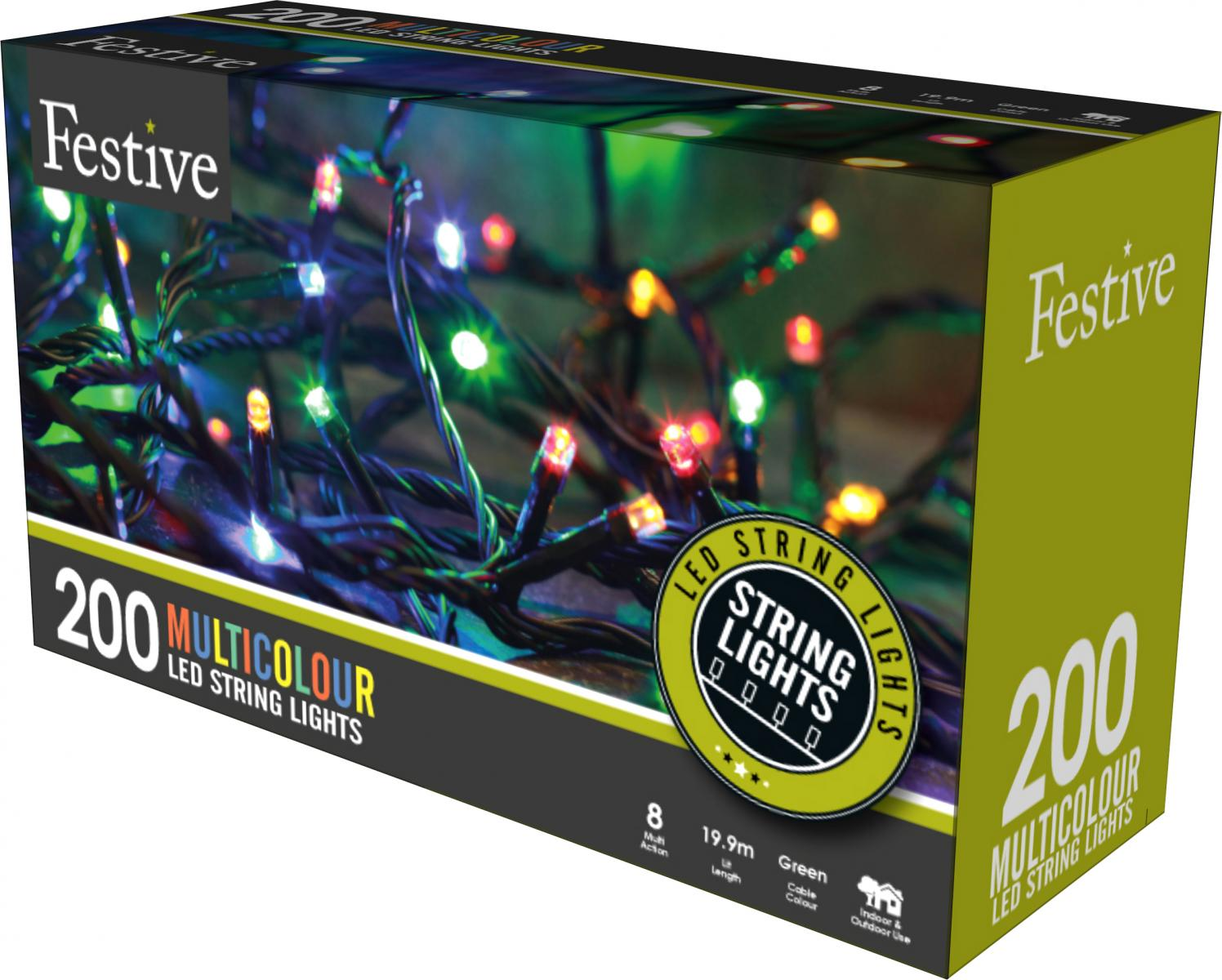 200lv LED lights with 8 multifunction controller with timer - Multicolour – Now Only £15.00