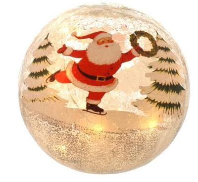 15cm Battery operated Crackle effect Santa ball – Now Only £9.00