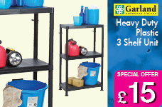 Self Assembly Plastic Shelving 3 Shelf Unit – Now Only £15.00