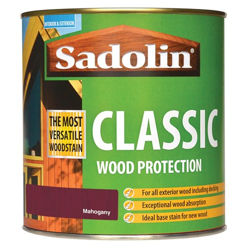 Classic All Purpose Woodstain 1Ltr - Mahogany – Now Only £16.00