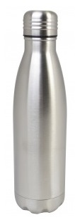 Double Walled Water Bottle 520ml - Silver – Now Only £6.00
