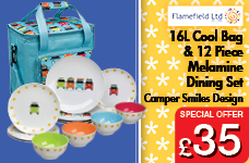 Camper Smiles Dining Set with Cooler Bag  – Now Only £35.00