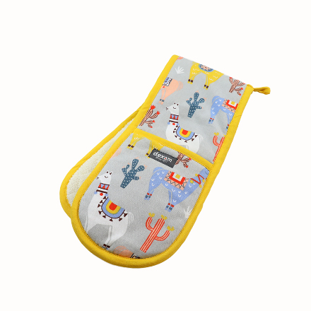 """""""No Probllama"""" Double Oven Glove – Now Only £10.00"""