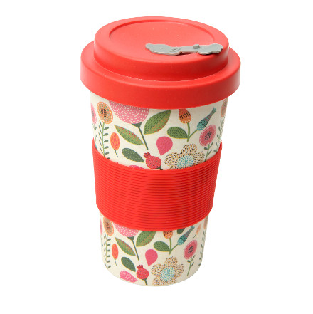 BamBroo Drinks Mug Floral 400ml  – Now Only £5.00