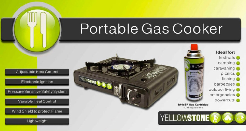 Portable Gas Stove - Black – Now Only £15.00