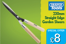 230mm Straight Edge Garden Shears with Ash Handles – Now Only £8.00