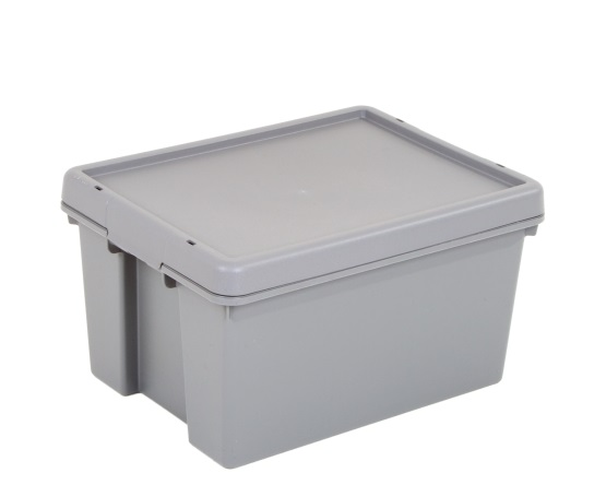 Wham® Bam Upcycled 16L Box and Lid - Grey – Now Only £5.00