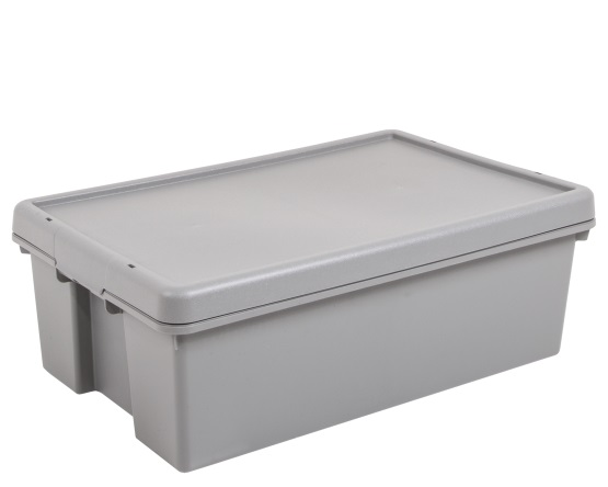 Wham® Bam Upcycled 36L Box and Lid - Grey – Now Only £9.00
