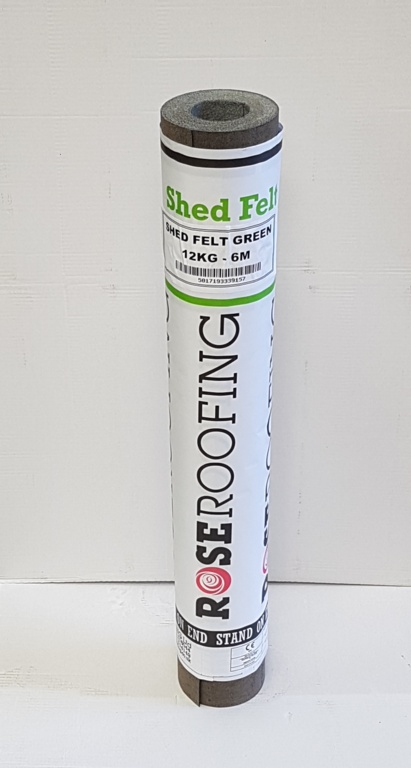 Rose Roofing 12kg Shed Felt Green 6m – Now Only £18.00