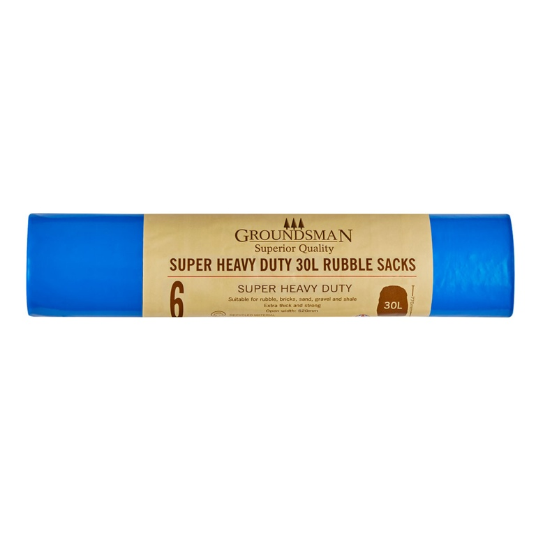 Super Heavy Duty Rubble Sacks 30L - Roll of 6 – Now Only £1.50