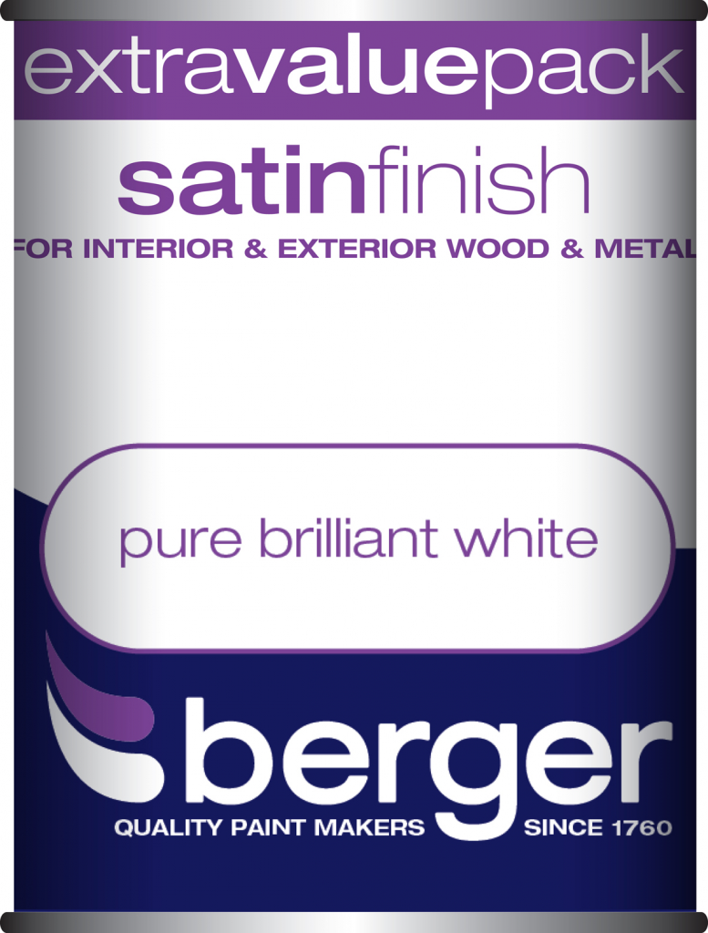1.25L Pure Brilliant White - Satin Sheen – Now Only £9.00