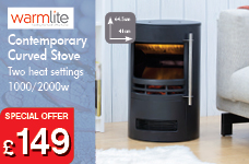 Curved Contemporary Stove – Now Only £149.00
