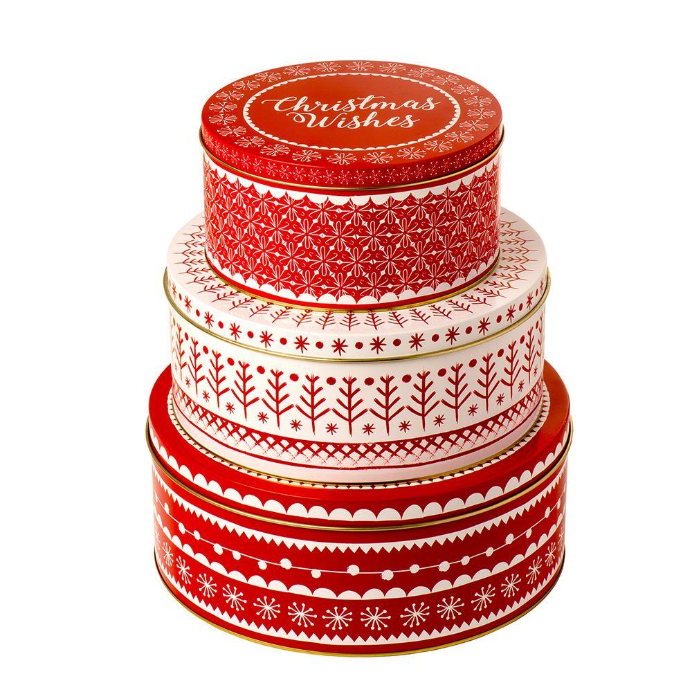 Xmas Cke Tin Set of 3 – Now Only £15.00