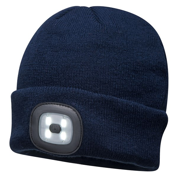 Beanie LED Head Light Hat - NAVY – Now Only £8.00