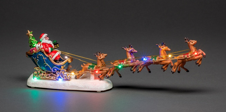 NEW Fibre Optic Santa in Sledge with Reindeer – Now Only £10.00