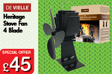 DeVielle Heritage Stove Fan 4 Blade – Now Only £45.00