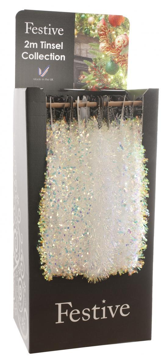 200cm 3 Assorted Irridescent Tinsel – Now Only £3.00
