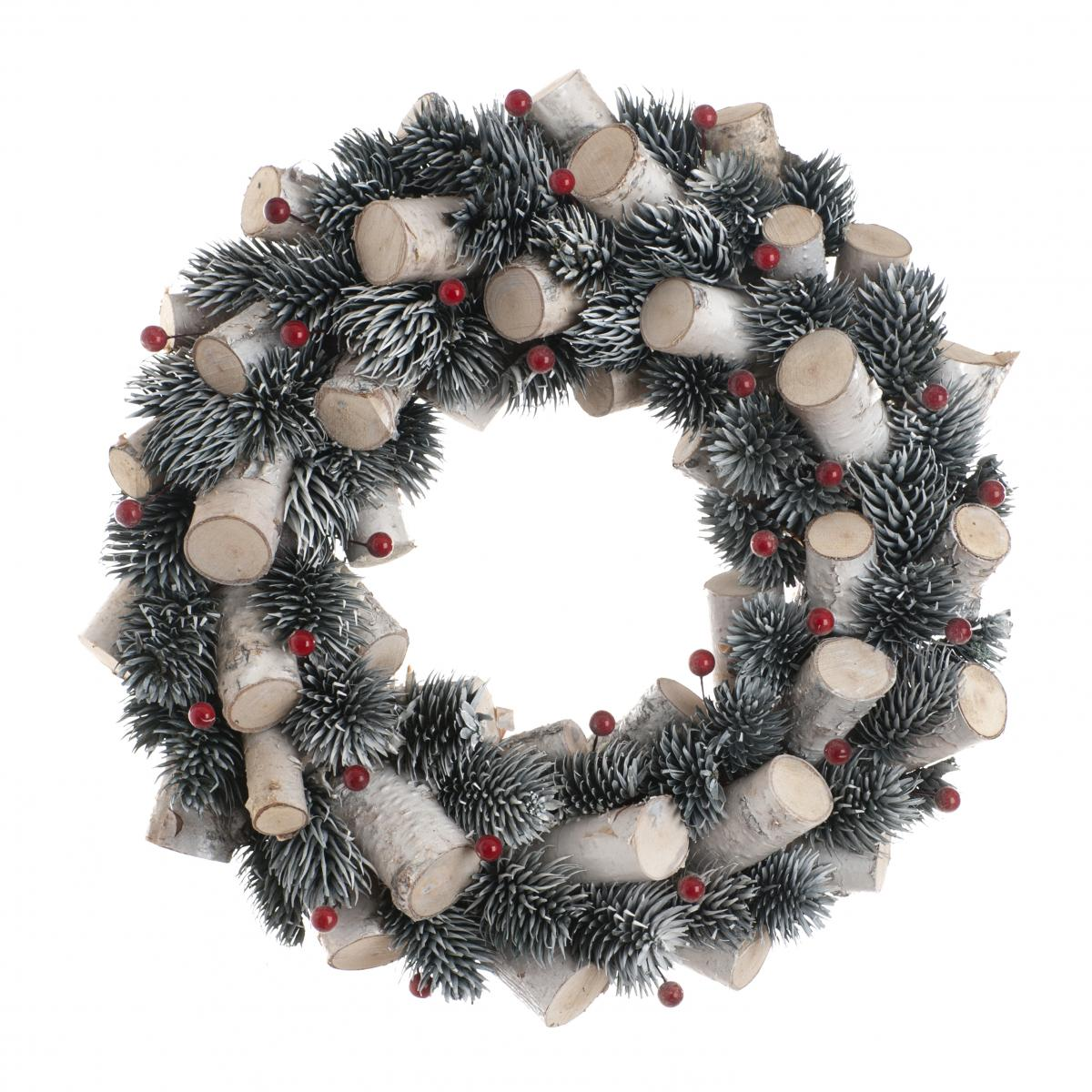 30cm Red berry and stick wreath in a box – Now Only £10.00