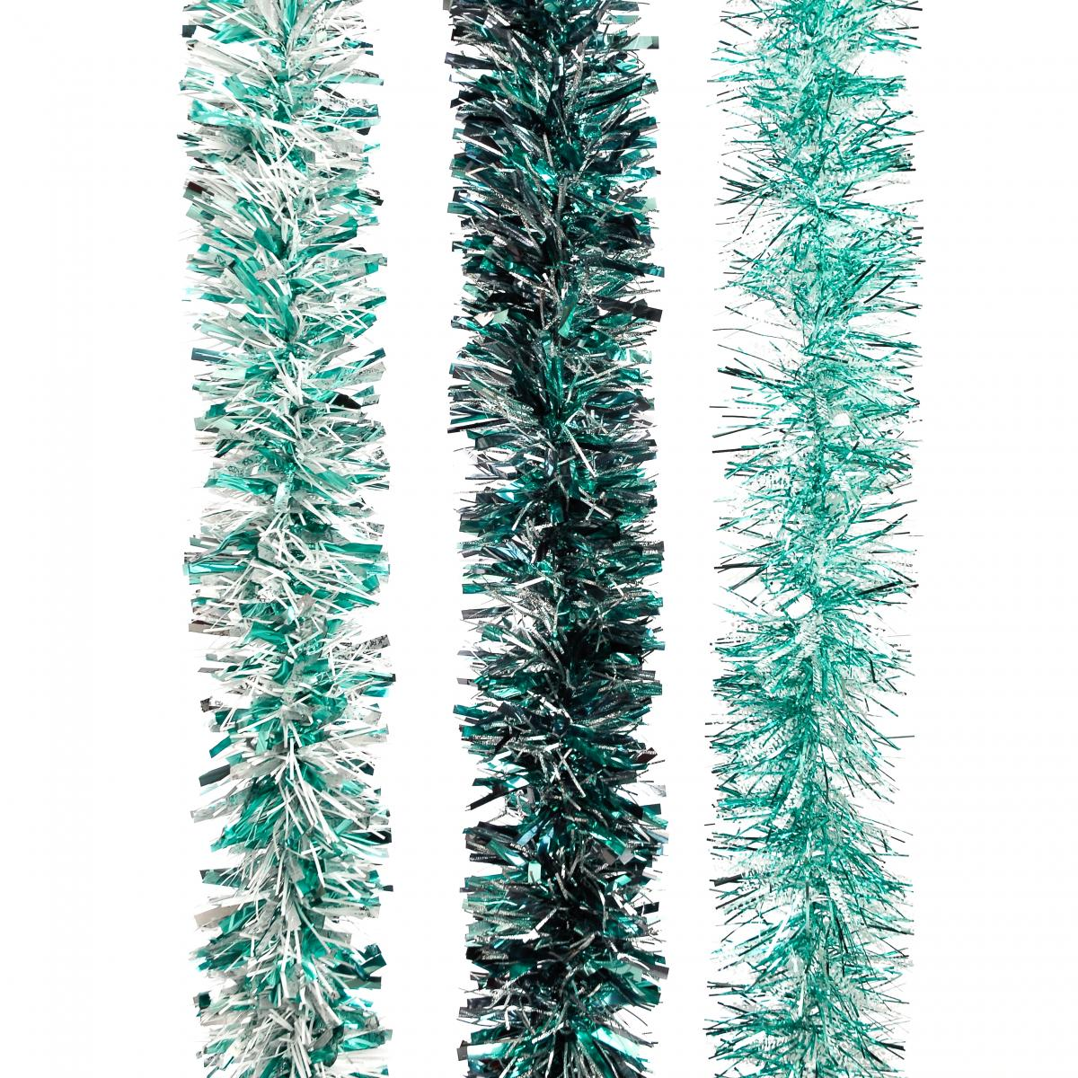 200cm x 10cm Assorted Teal Tinsel – Now Only £2.50